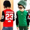 2017 Novas Crianças hoodies da camisola dos miúdos das meninas dos meninos da criança hoodies do velo carta pulôver de manga longa top esportes
