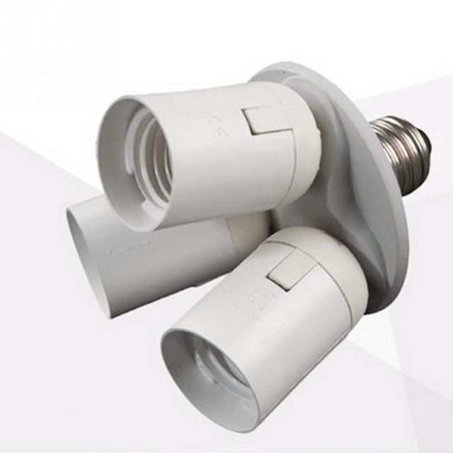 Great 110V 240V Lamp Socket Splitter Light Lamp Bulb Adapter Holder Photo Video  Studio 3 In