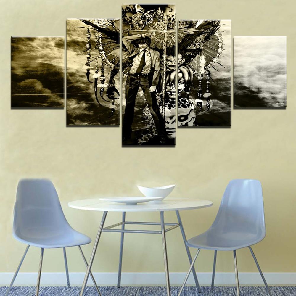 Modern Printed Anime Poster Wall Art Decor Framework 5