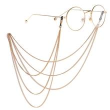 Sunglasses Lanyard Eyeglass Rope Metal Multi-layer Tassel Chain Reading Glasses Chains Cord Holder Neck Strap