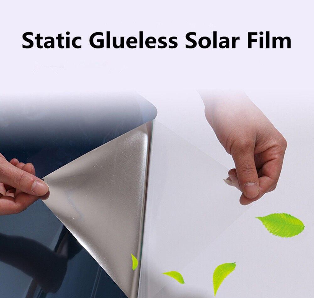 1.52x5 m 6 couleurs Statique Fenêtre Film Solaire Teinte Home Office Verre Autocollant utiliser EXPLOSION-PREUVE 60 ''x 196.8''