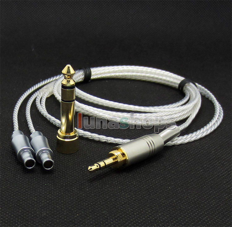 6.5mm 3.5mm PCOCC + Silver Plated Cable for Sennheiser HD800 Headphone Headset LN0047296.5mm 3.5mm PCOCC + Silver Plated Cable for Sennheiser HD800 Headphone Headset LN004729