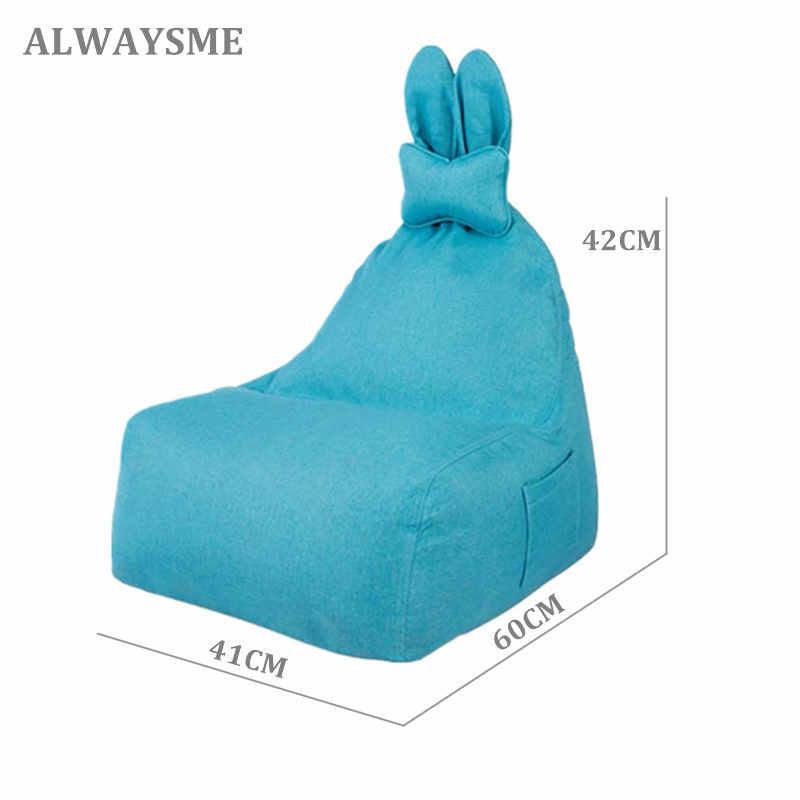 ALWAYSME Com Enchimento 41X60X42 cm Crianças Ou Jovens Sofá de Feijão Cadeiras Cadeira Do Sofá Remoção-Capaz lavar Com Bolso E Travesseiros