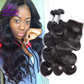 Malaysian Hair Body Wave 3 Bundles With Closure Malaysian Body Wave Virgin Hair With Closure Human Hair Weave Wavy Iwish Hair