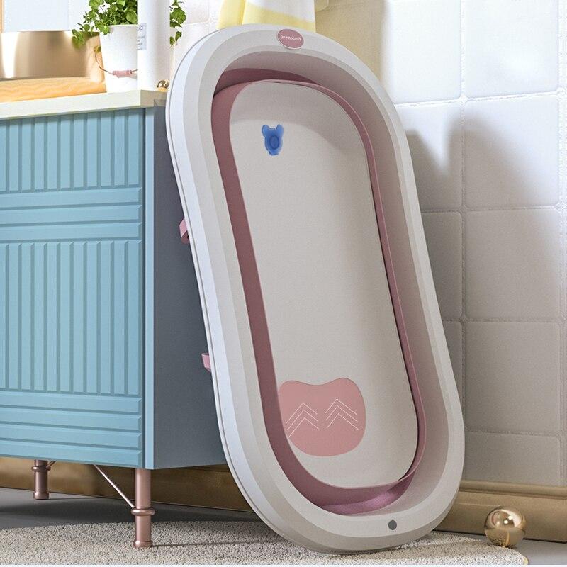 Baby Shower Tubs Multifunctional Folding Bathtub For Children Portable Seatable Plastic Kids Infant Bathtub