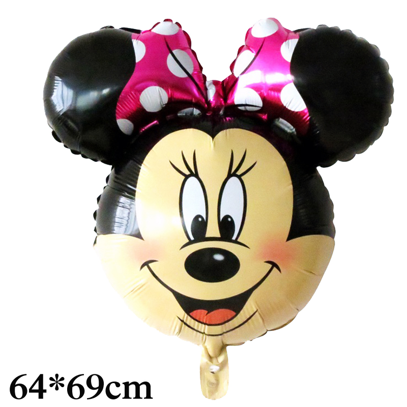 5pcs minnie mouse balloon birthday mickey foil balloons for children happy birthday party decoration