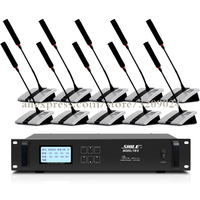 Wireless Conference Microphone System 1 Host 1 Chairman Microphone 9 Representatives