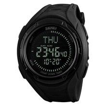 Часы наручные SKMEI мужские с компасом, цифровые брендовые люксовые в стиле милитари, для спорта на открытом воздухе, 1314