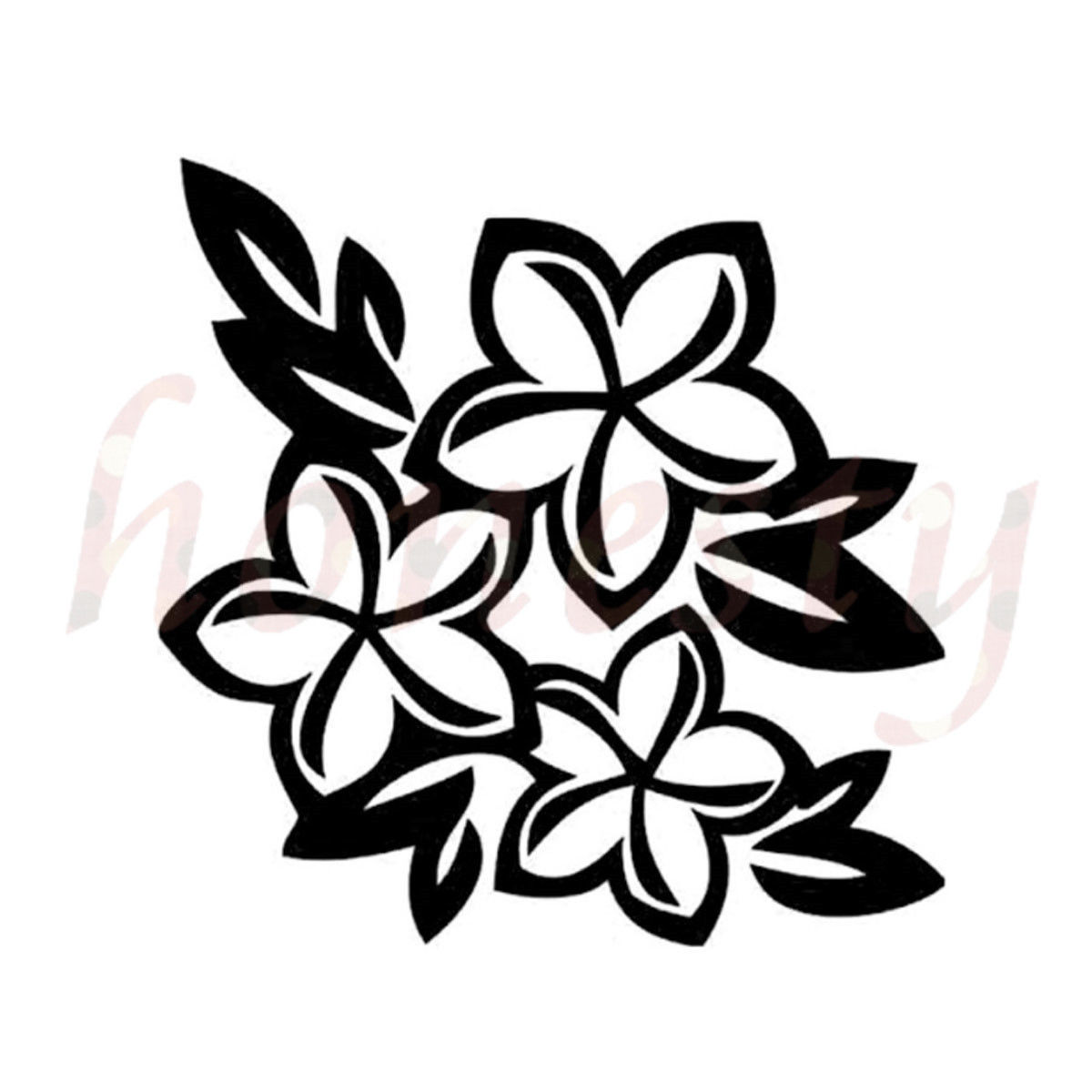 Hawaii Flower Car Stickers Glass Wall Laptop Truck Door