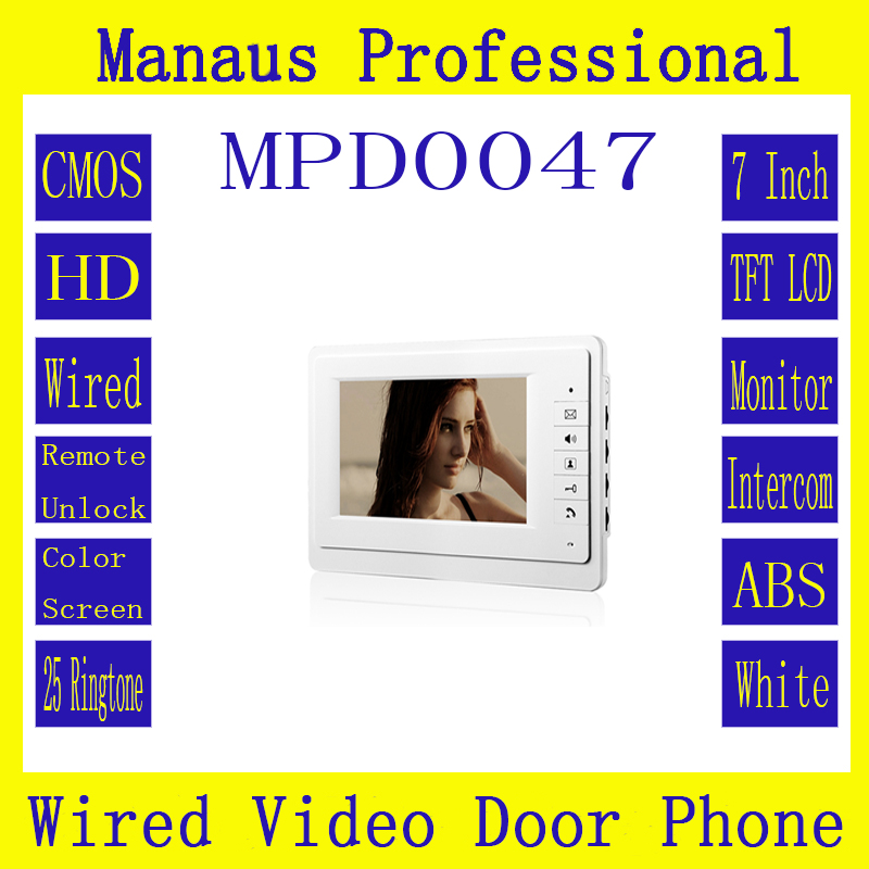 High Quality Smart Home 7 inch digital color TFT LCD Wired Indoor Monitor Video Door Phone D47b dc803 4 lcd digital indoor