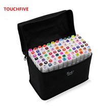 TOUCHFIVE 30/40/60/80/168 color art mark double-headed artist sketch oily alcohol-based animated comic supplies
