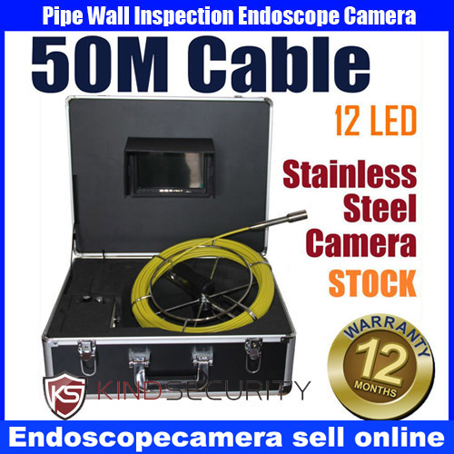 50m waterproof Snake Sewer Drain Pipe Wall Inspection Endoscope Camera system  видеоскоп kenko snake 140155 pipe wall kit 84033 удлинитель эндоскопа