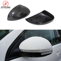 For Volkswagen Tiguan Sharan Carbon Fiber Mirror Cover Rear Side View caps Replacement Style 2009 2010 2011 2012 2013 2014 2015