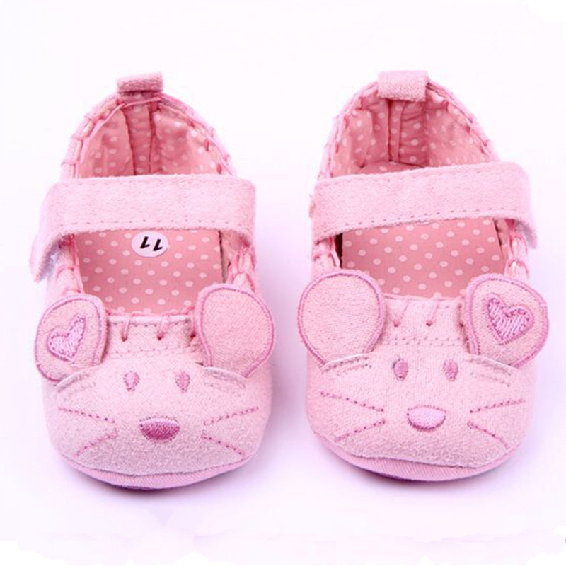 new born first walker autum baby girls shoes cotton cute mouse baby shoes moccasins infant toddler newborn prewalker infantil