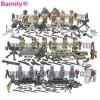 bainily] 12 шт. со многими книги об оружии мировой войны призрак нападение военное дело солдата совместимо легое оружие модели строительный блок кирпичи