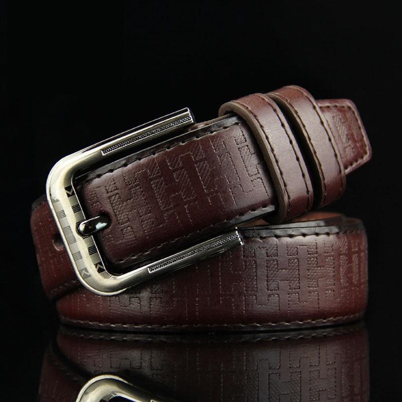 KAWEIDA New Classic Vintage Men's Genuine Leather   Belt   Casual Pin Buckle   Belt   for Jeans Trouser   Belt   Accessories for Men Kemer