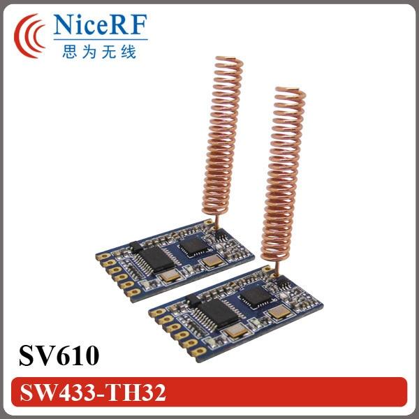 10 шт. SV610 100 МВт TTL интерфейс 433 МГц беспроводной приемопередатчик модуль + 10 шт. меди весной антенна + 1 шт. TTL доска USB Мост