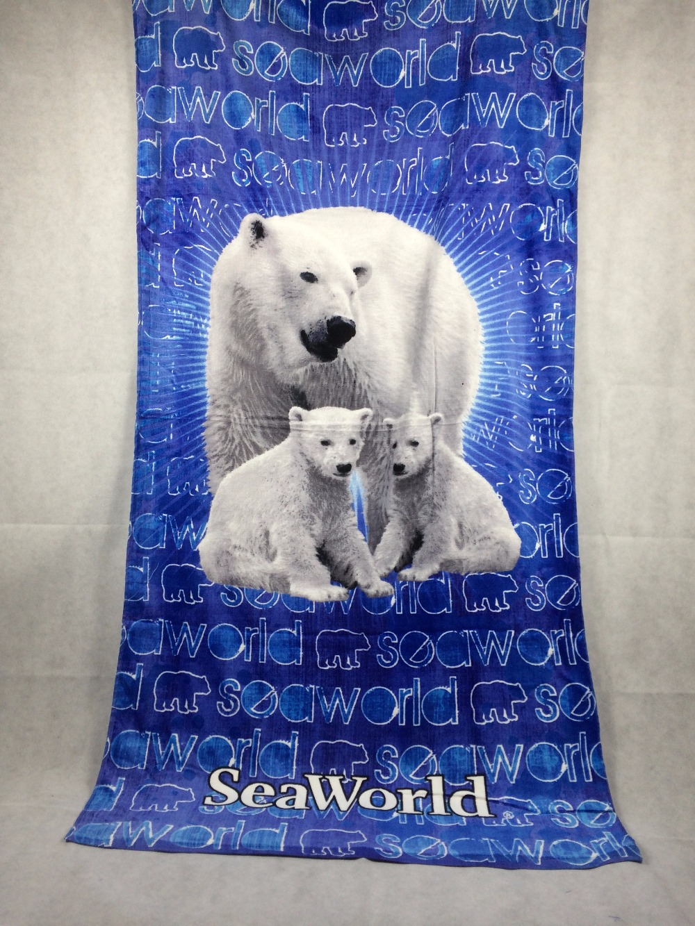 Cartoon Polar BearBath Towel Children Cotton Serviette De Bain Summer Beach Towel Bath Toallas Animal Drap De Plage