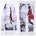 2XL Más El tamaño S-XXL hombres/mujeres 3D print hip hop jordan #23 sudaderas con capucha/emoji joggers pantalones/corredor chándal trajes casuales