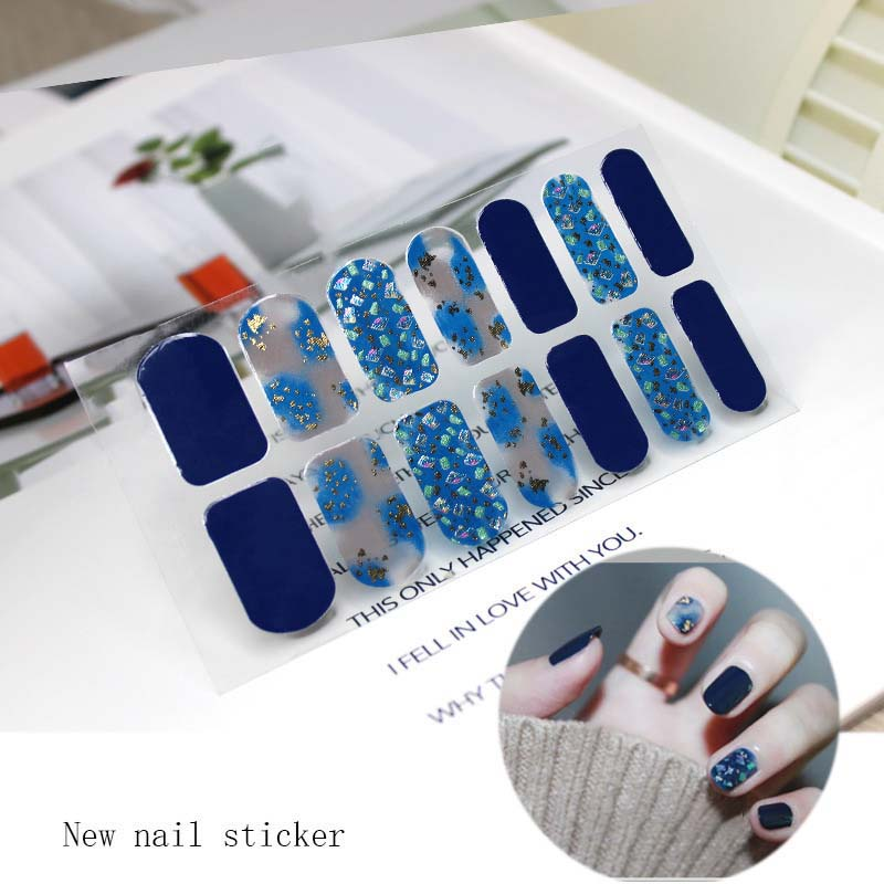 Fashion Full Cover Nail Polish Wraps Adhesive Nail Stickers Nail Art Decorations Manicure Tools Environmental for Woman D44 in Stickers Decals from Beauty Health