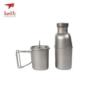 Image 5 - Keith titanyum 1100ml spor su ısıtıcısı ve 700ml titanyum yemek kabı kamp ordu su şişeleri su ocak Ultralight Ti3060