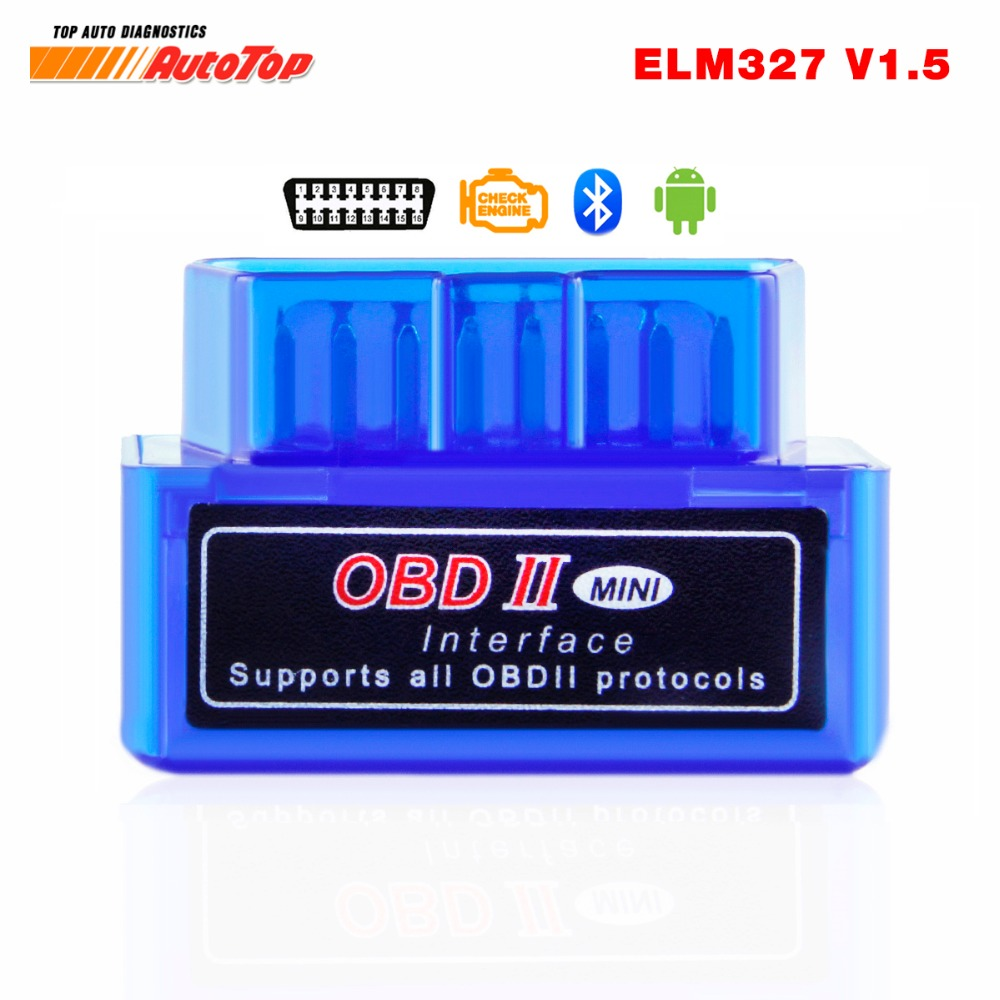 OBD2 Bluetooth Adapter ELM 327 V 1.5 Bluetooth ODB 2 Car Diagnostic Scanner ELM327 V1.5 OBD 2 ODB2 Autoscanner Russian speaking