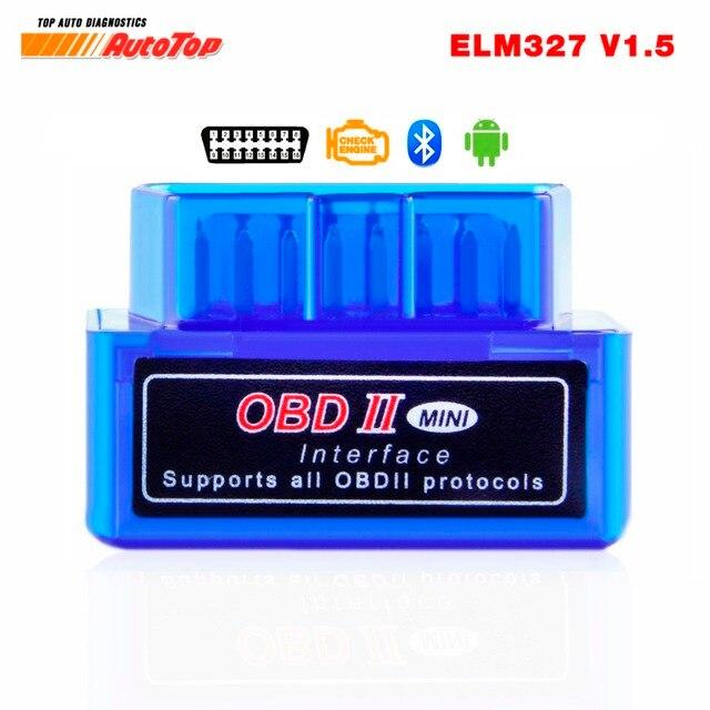 OBD2 Bluetooth Adapter ELM 327 V 1.5 Bluetooth ODB 2 Car Diagnostic Scanner ELM327 V1.5 OBD 2 ODB2 Autoscanner Russian-speaking