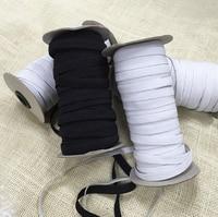 80meters 0.90cm Black/White Color High Quality Elastic Webbing Banding Tape