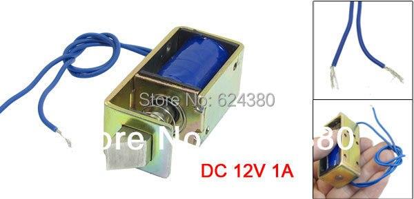 Dc 12ボルト1a 10ミリメートルストローク15nフォースオープンフレームタイプソレノイド電磁石用電動ドアロック