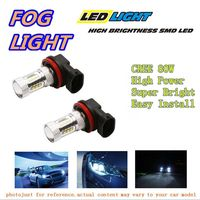 1 Pari LED Fog Light For 2002 2004 Acura RSX White High Power CREE 80W H11