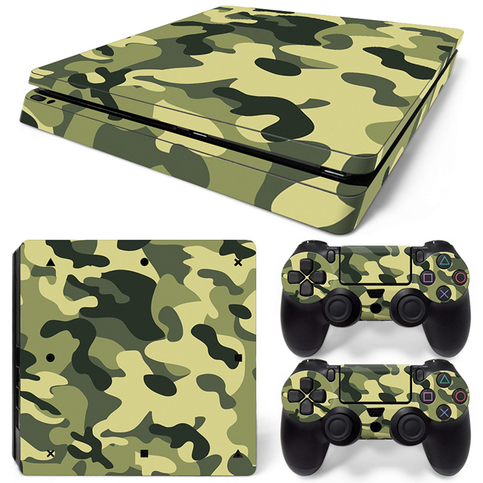 Camouflage design hot selling skin sticker for PS4 Slim console vinyl game decals #TN-PS4 Slim-0590