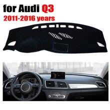 RKAC CUSTOM FIT tampa Do painel do Carro mat para Audi Q3 2011-2016 anos de mão Esquerda drive dashmat pad traço cobre auto acessórios