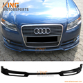 High Quality Poly UrethaneType A Style Front Bumper Lip for 2006 2007 2008 Audi A4 B7 EURO