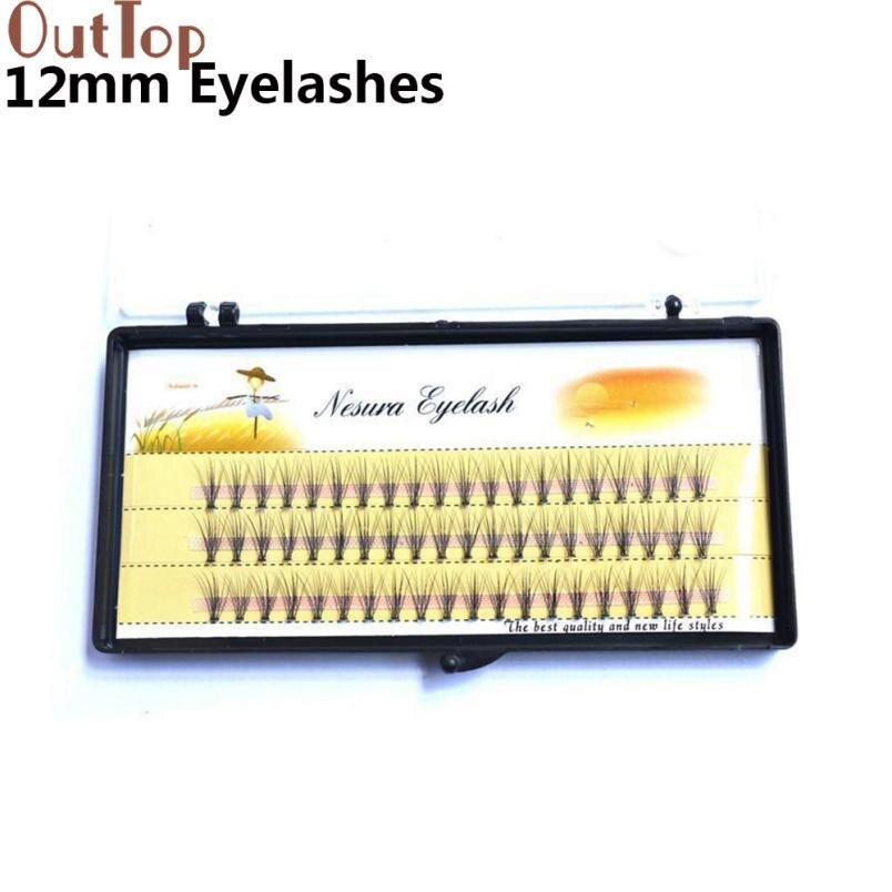 OutTop Makeup Beauty Individual False Eye Lashes 6D Wave Mink 0.07 C Black Silk Eyelashes Extension New Eyelash 2017June2