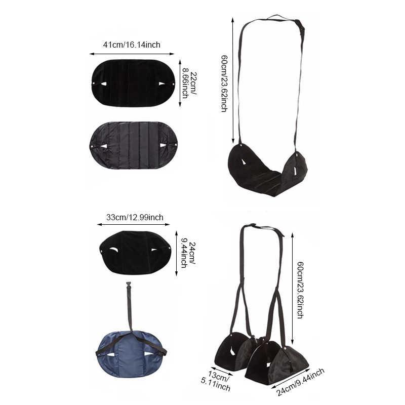 Портативная складная дорожная скамеечка для ног регулируемая офисная стропа стол гамак для ног мат для релакса Сплит Тип один тип аксессуары продукты