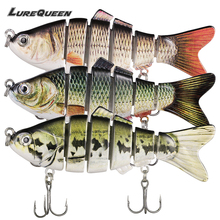 3PCS Fishing Lures Wobblers Arduous Baits Sinking 6 Phase Jointed Swimbait Pesca Crankbait for Sea Fishing Deal with Isca Synthetic
