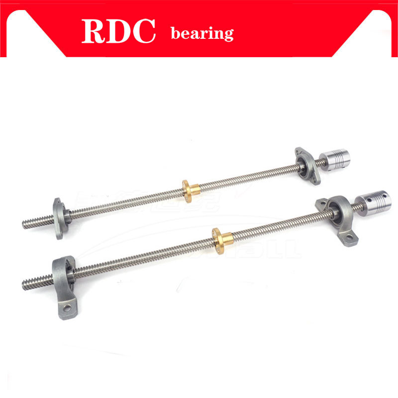 Image 5 - High quality T8 Lead screw 700 mm 8mm + brass copper nut + KP08 or KFL08 bearing Bracket +Flexible Coupling for 3D printer&CNC-in Bearings from Home Improvement