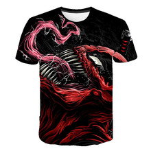 2019 New Venom Summer T-shirt Avengers Printed Man Short Sleeve Spider-Man Mens Fitness Casual Comic Tops