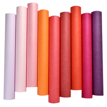 Modern Pink Purple Red Series Plain Silk Wall Papers Home Decor Dual Layer Dyeing Solid Color Wall Covering Wallpaper for Walls