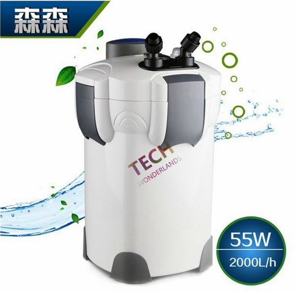 SUNSUN 55W 2000L/H 4 Stage External Aquarium Canister Filter + 9W UV STERILIZER Light with HW 304A/HW 304B
