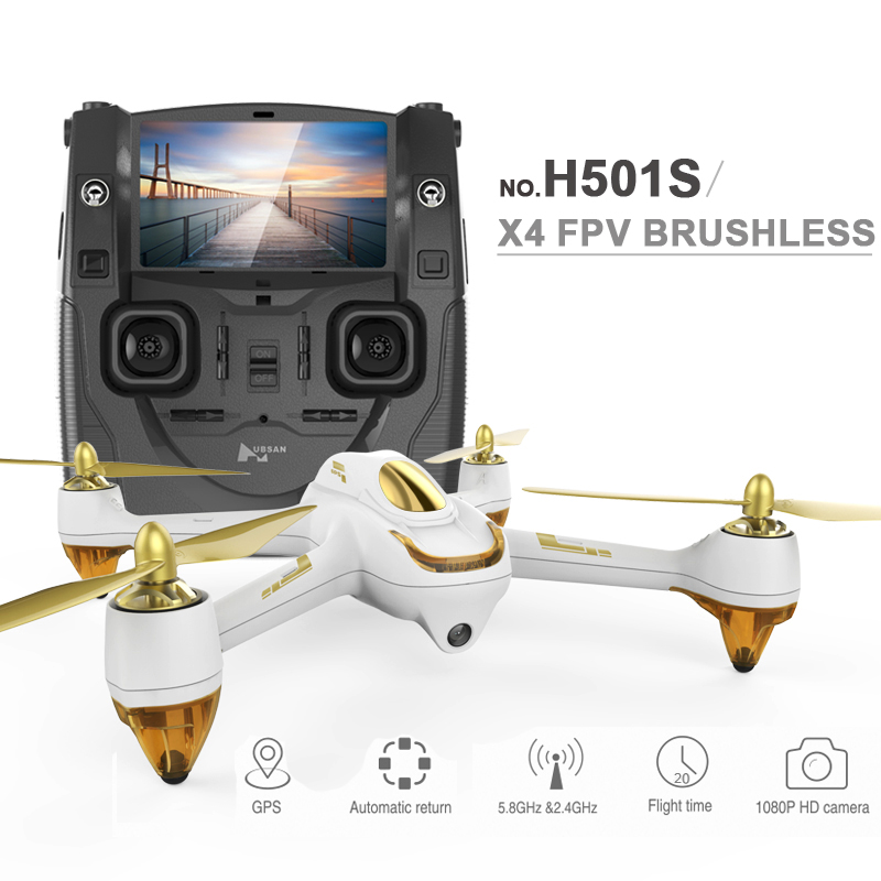 (In stock) 100% Original Hubsan X4 H501S FPV Quadcopter Drone with 1080P Camera GPS Follow Me & Return Home 7 4v 2700mah 10c battery 1 in 3 cable usb charger set for hubsan h501s h501c x4 rc quadcopter