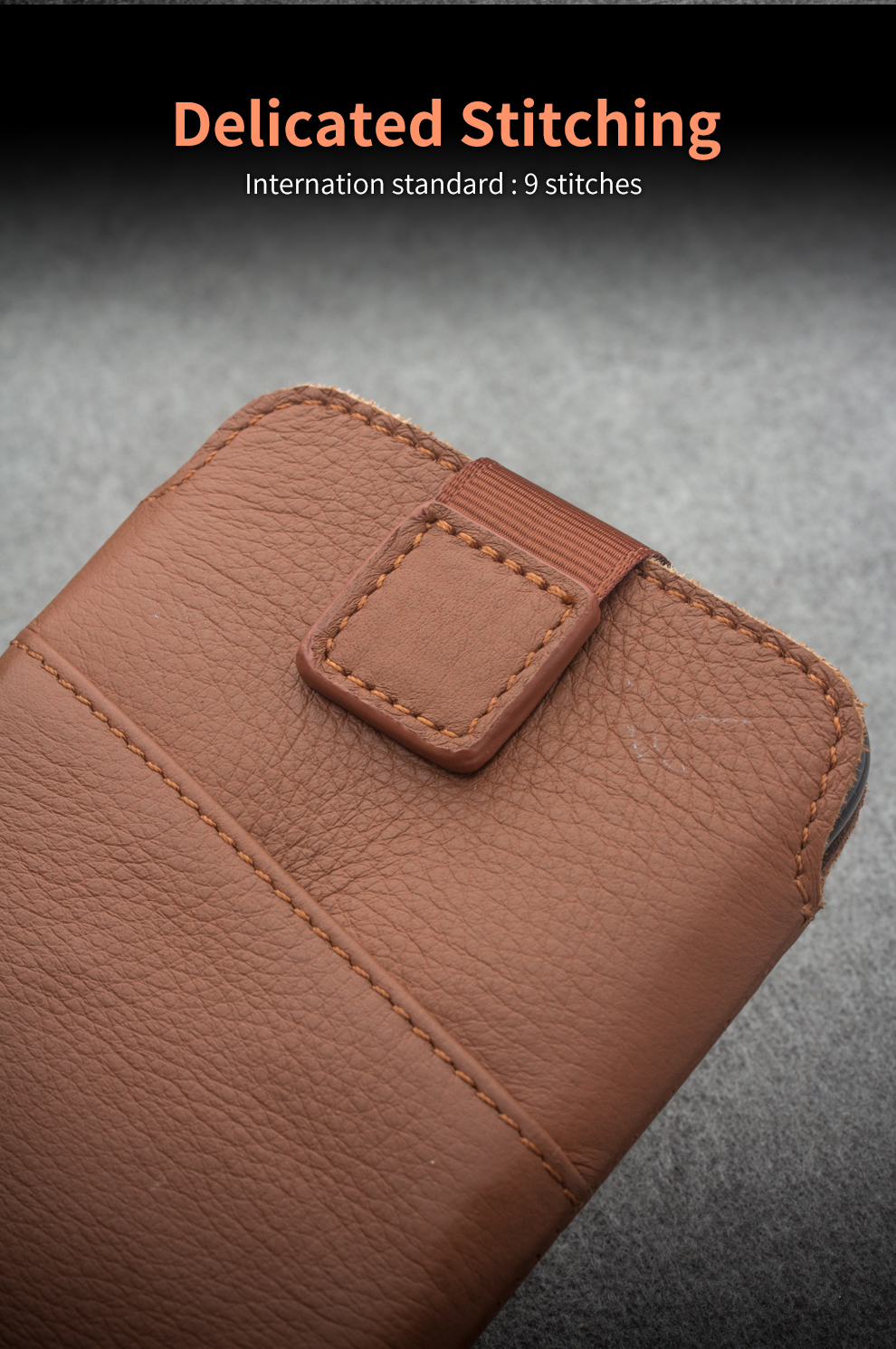 QIALINO Genuine Leather Cover Wallet Pouch Card Slot Luxury Ultrathin Accessories Bag