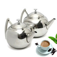 1.5/2L Stainless Steel Teapot Tea Pot With Tea Leaf Filter Infuser New