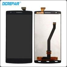 Czarny Dla OnePlus One One Plus 1 + 1 Wyświetlacz LCD Ekran Dotykowy Digitizer Pełna Zgromadzenie A0001 Darmowa Wysyłka + śledzenia Nie