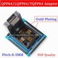 Top qualidade QFP64 TQFP64 LQFP64 tomada adaptador IC socket test Tipo U programador qfp64 tomada tomada tomada tqfp64 lqfp64