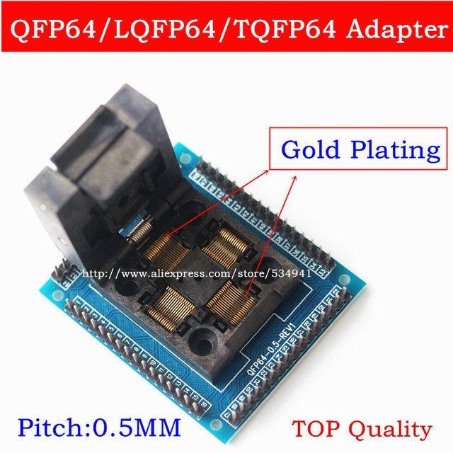 Top quality U Type QFP64 TQFP64 LQFP64 socket adapter IC test socket programmer qfp64 socket tqfp64 lqfp64