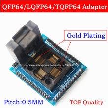 למעלה איכות U סוג QFP64 TQFP64 LQFP64 שקע מתאם IC מבחן socket מתכנת qfp64 שקע tqfp64 lqfp64