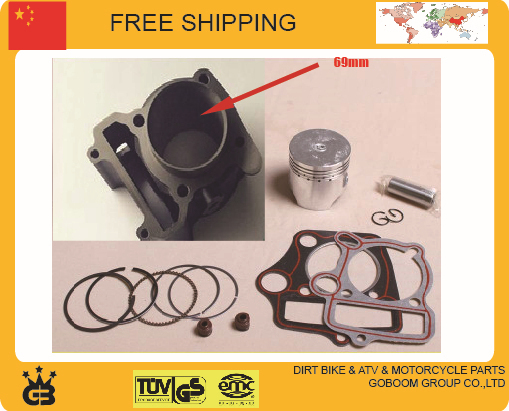 linhai YP250 250cc accessories cylinder assy 69MM cylinder block assembly piston ring gasket set free shipping