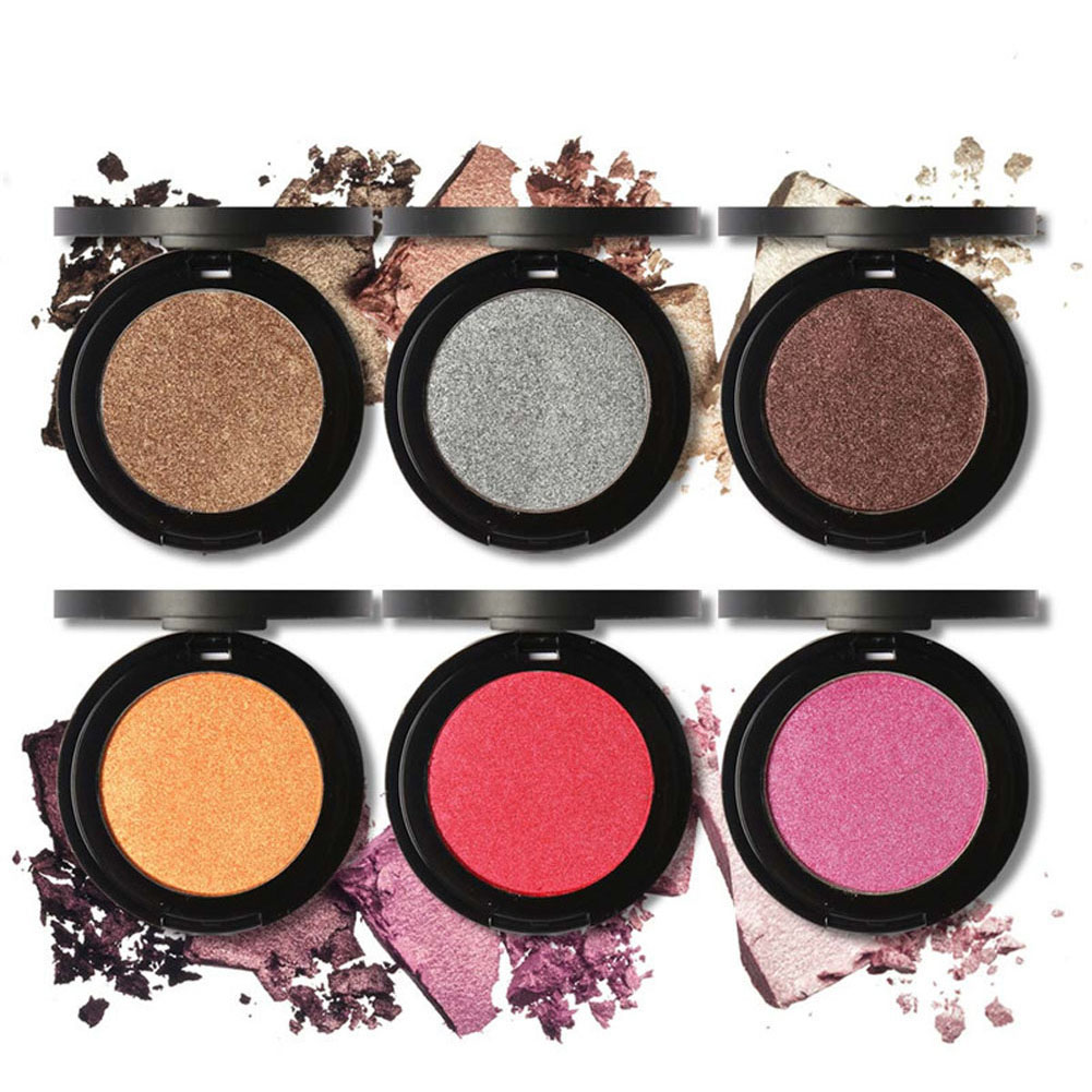 Matte Eyeshadow Palettes Pigments Single Color Smoky Waterproof Shining Glitter Eyes Sha ...