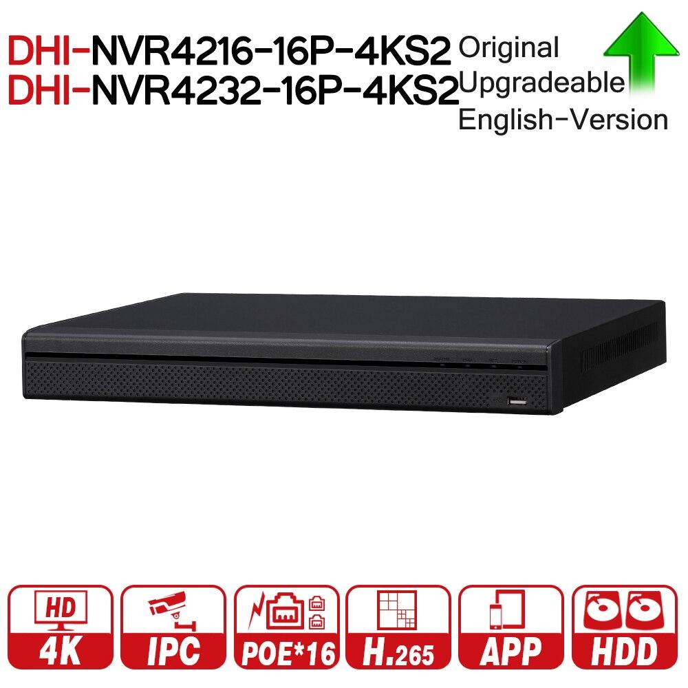 DH NVR4216-16P-4KS2 NVR4232-16P-4KS2 16/32 Canal 1U 16PoE 4 k & H.265 Lite Réseau Vidéo Enregistreur 4 k NVR Pour La Sécurité système